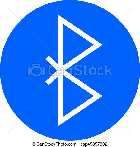 Bluetooth Symbol Vector Icon. Wireless C-Bluetooth Symbol Vector Icon. Wireless Connection Sign-2