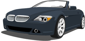 Bmw M6 Convertible. A Vector .eps illustration of a BMW M6 Convertible  Stock Images