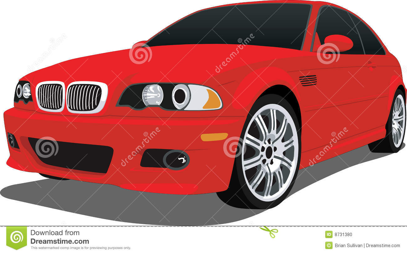 Red BMW M3. A Vector .eps illustration of a BMW sports car. Saved