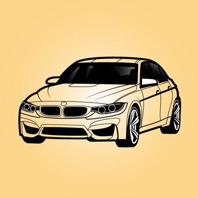 Siyah u0026 beyaz BMW Sedan a - Bmw Clipart