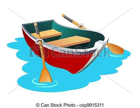 An illustration of small row boat