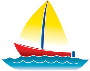 Boat Clipart Image: Clip Art Illustratio-Boat Clipart Image: clip art illustration of a cartoon boat floating on the  water-6