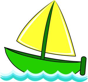 cartoon boats images | Free Sailboat Clip Art Image - Cute Little Sailboat  on Waves of
