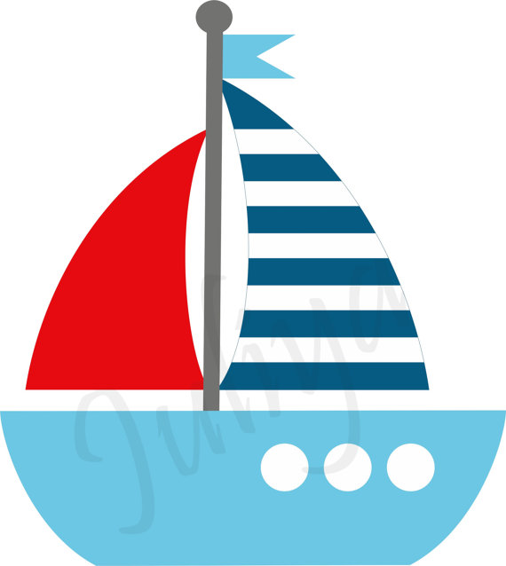 Nautical clipart / Nautical Kids sailor clipart / Red White Blue Nautical  clipart / Red White Blue paper / eps / nautical clip art