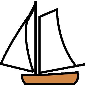 Blue boat clip art vector cli