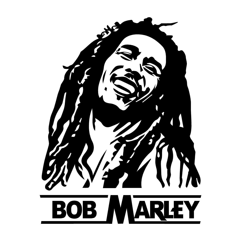 Amazon Clipartlook.com: Bob Marley - Sil-Amazon clipartlook.com: Bob Marley - Silhouette - Wall Decal, Vinyl Decor Sticker  (Choose A Size u0026 Color): Handmade-1