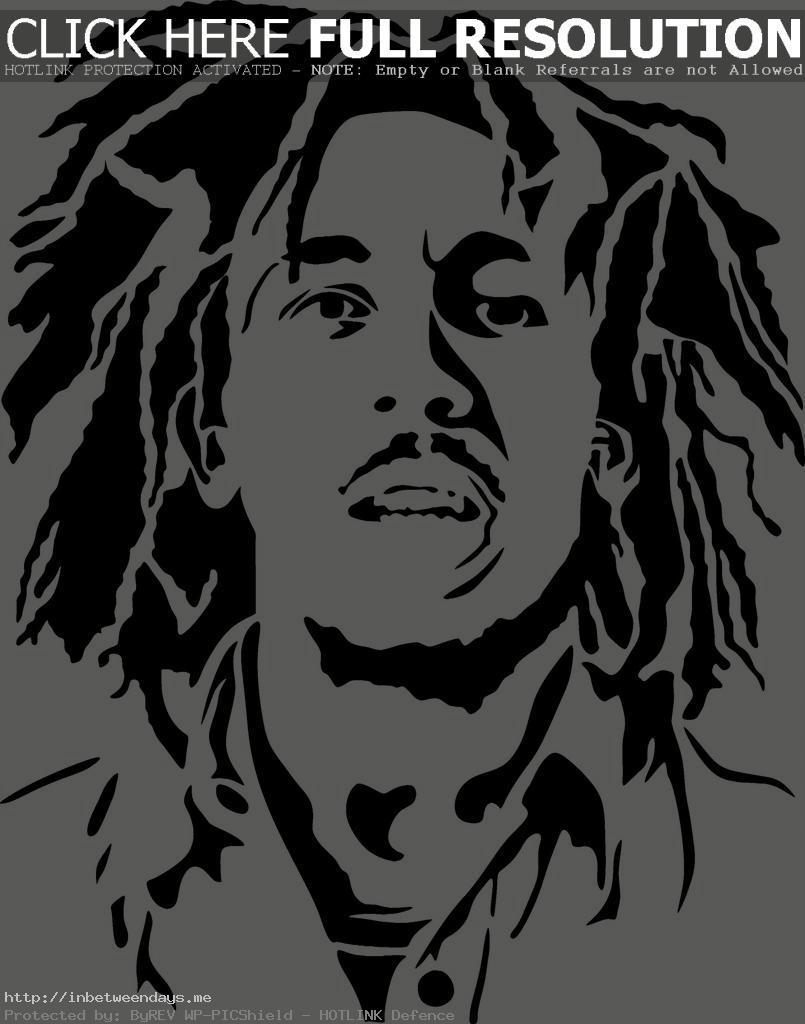 Bob Marley Black And White Stencil More -Bob Marley Black And White Stencil More Fantastic Magnificent-3