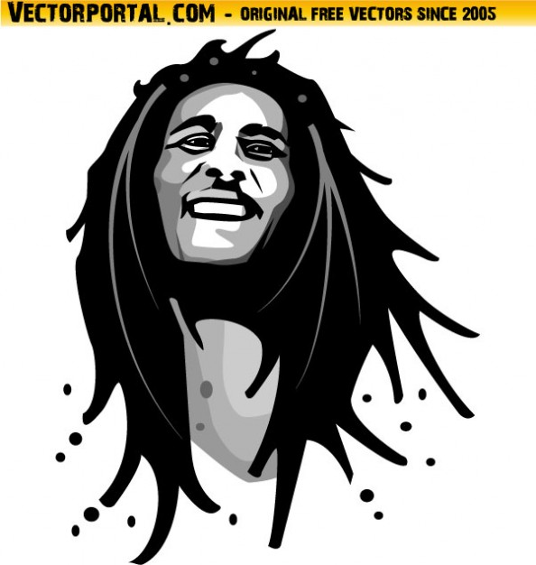 Bob Marley Portrait Reggae Music Free Ve-Bob Marley portrait reggae music Free Vector-11
