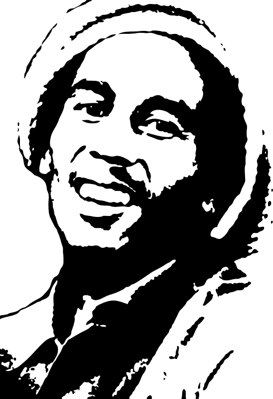 Bob Marley Silhouette Painting Andrew Br-Bob Marley Silhouette Painting Andrew Braswell Pictures Picture Clipart-13