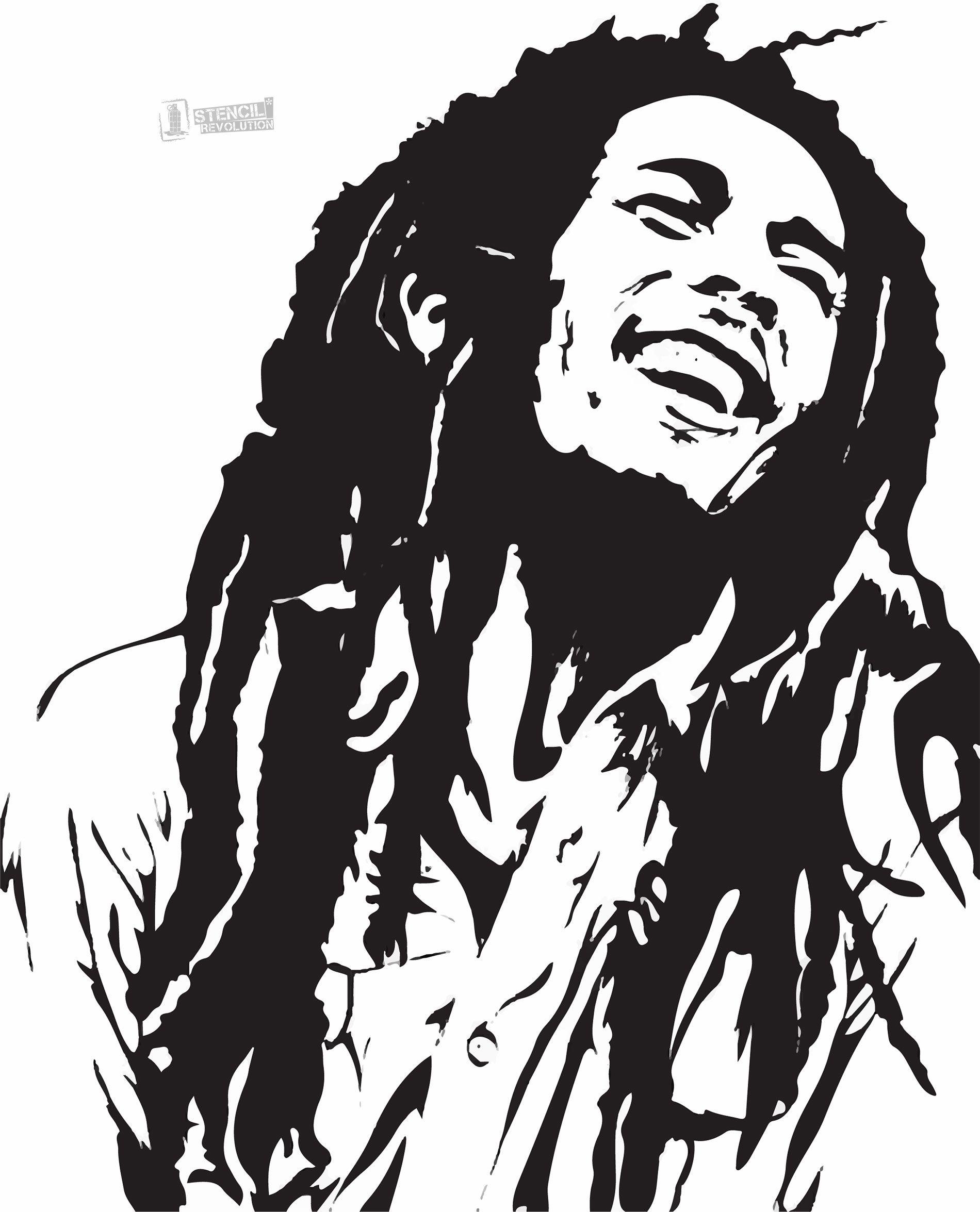 Bob Marley Stencil-bob marley stencil-14