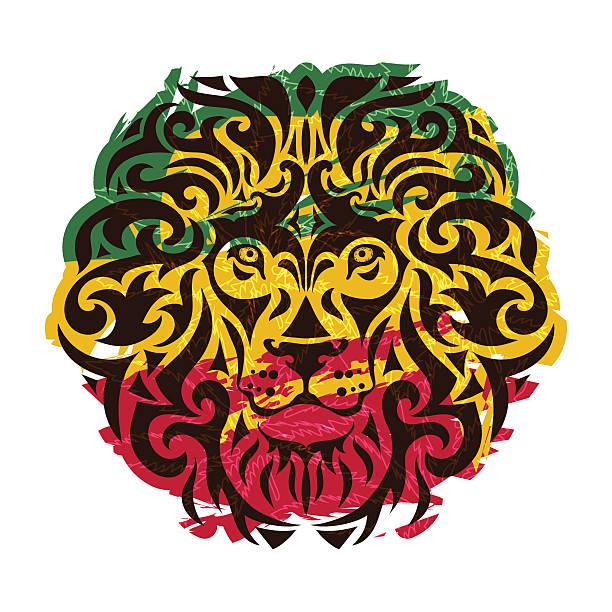 Rasta Lion Vector Vector Art Illustratio-rasta lion vector vector art illustration-19