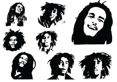 Bob Marley Silhouette - The Everlasting Delightful MusicSilhouette Clip Art | cameo silhouette | Pinterest | Bob marley, Clip art and Graphics