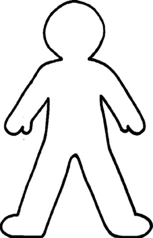 ... Body Outline Clipart Black And White-... Body outline clipart black and white ...-3