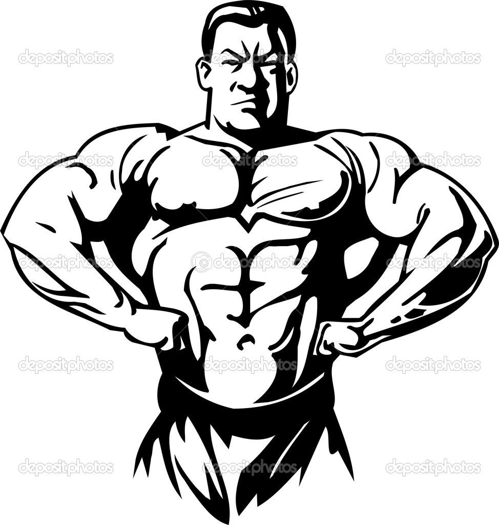 bodybuilder clipart