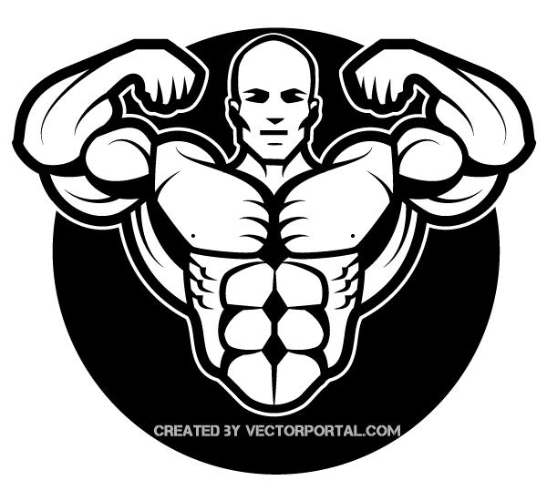Bodybuilder Clip Art Free .