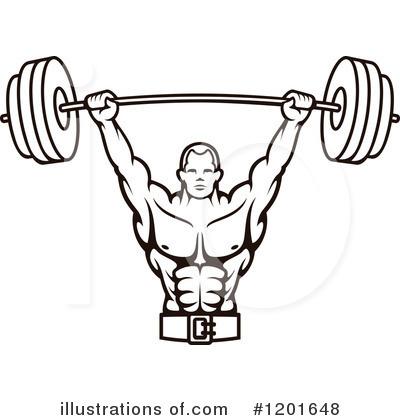 Bodybuilding Clipart #1201648 - Body Builder Clip Art