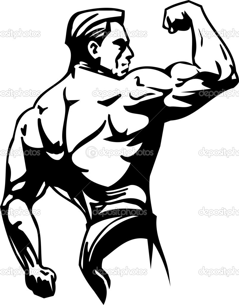 Bodybuilding clipart free - .