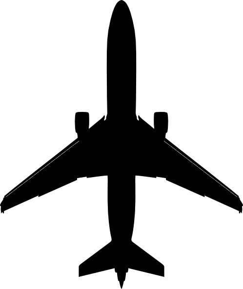 Boeing Plane Silhouette clip art