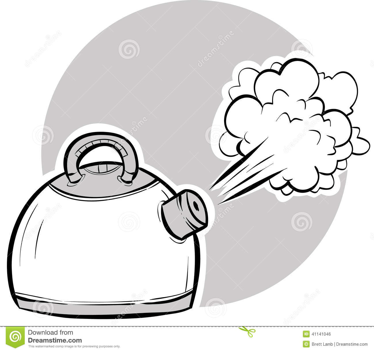 Boiling Kettle Stock Illustration Image 41141046
