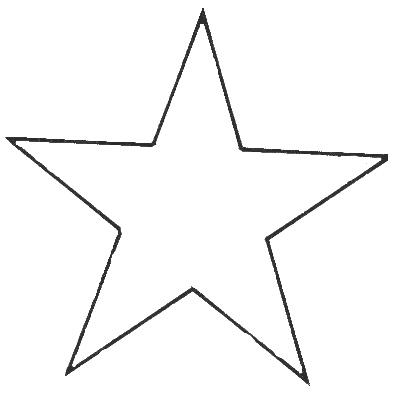 Bold Star Outline Clip Art