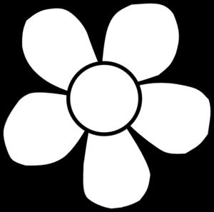 Bold White Flower Clip Art At Clker Com Vector Clip Art Online