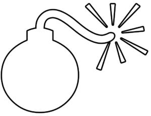 Bomb Outline Clip Art