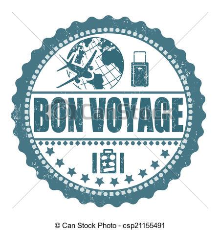 Bon Voyage Clip Artby Gertot19671/20; Bo-Bon Voyage Clip Artby gertot19671/20; Bon voyage stamp - Bon voyage grunge  rubber stamp on white,.-3