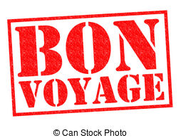 ... BON VOYAGE Red Rubber Stamp Over A W-... BON VOYAGE red Rubber Stamp over a white background.-12