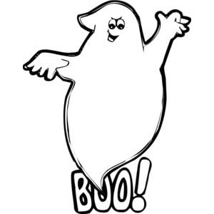 boo ghost public domain clip  - Clip Art Ghost