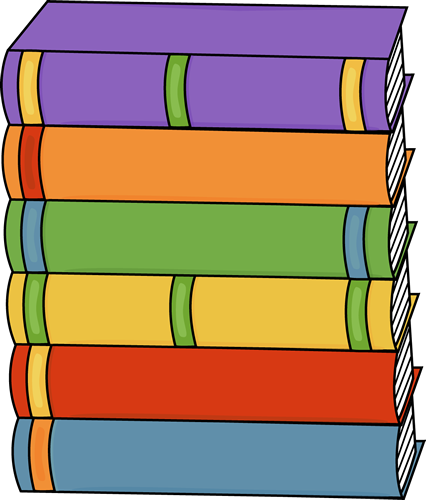 Book Clip Art - Stacked Books Clipart