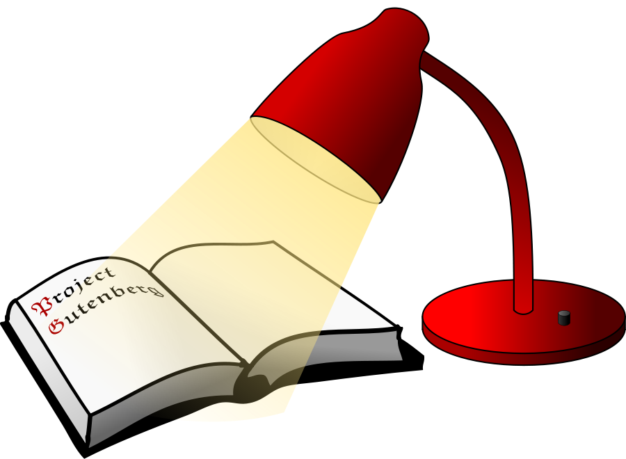 Book and Light Clipart, vector clip art online, royalty free