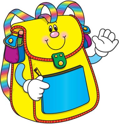Book bag clip art - .