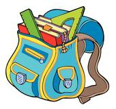 Book Bag Clipart And Illustration 2297 Book Bag Clip Art Vector Eps