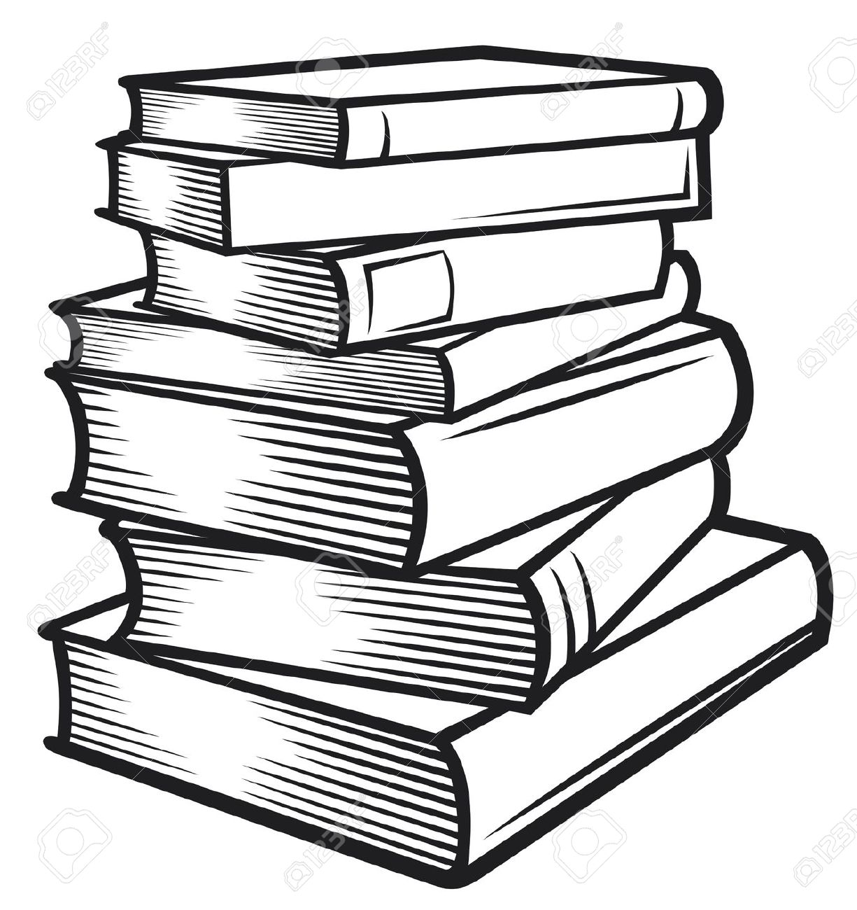 Books Clipart Black And White