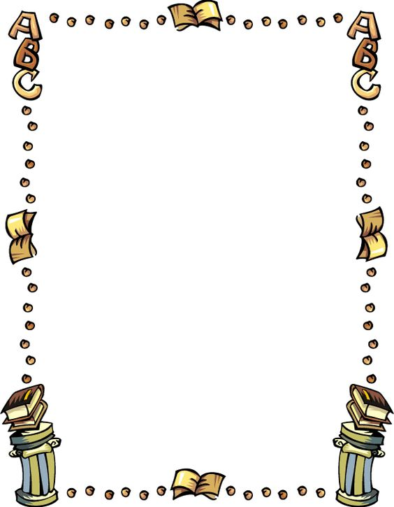 Book Border Clip Art | Free Education Clipart 081410» ClipArt