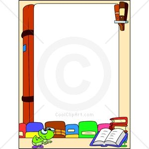 Book Border Clip Art | keywords borders read reading books bookworm fun this image is also