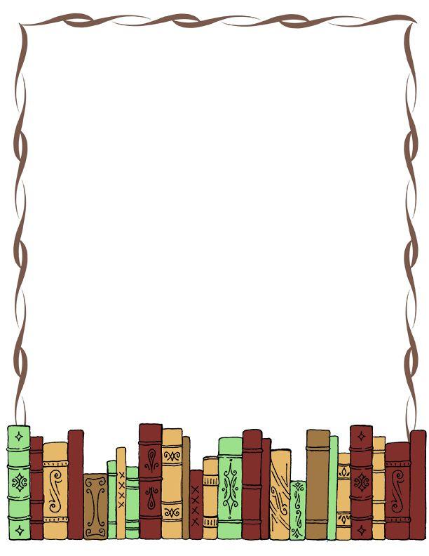 Book Border Clip Art Writingpaper Clip A-Book Border Clip Art Writingpaper Clip Art Misc Library Clipart-1