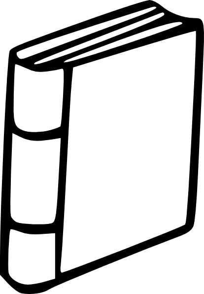 Book Clipart Black And White #28689-Book Clipart Black and White #28689-3