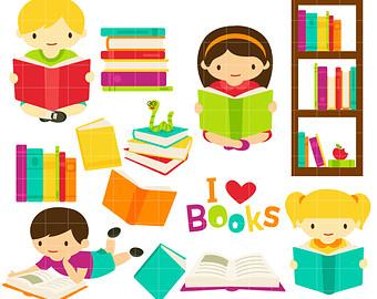 Book Club Digital Clip Art for Scrapbook-Book Club Digital Clip Art for Scrapbooking Card Making Cupcake Toppers Paper Crafts-18