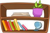 book shelf; wooden shelf ... - Shelf Clipart