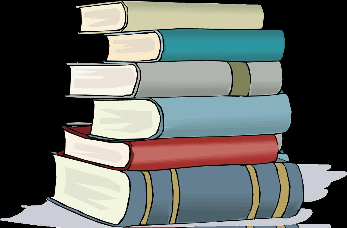 Books Clip Art - Stacked Books Clipart