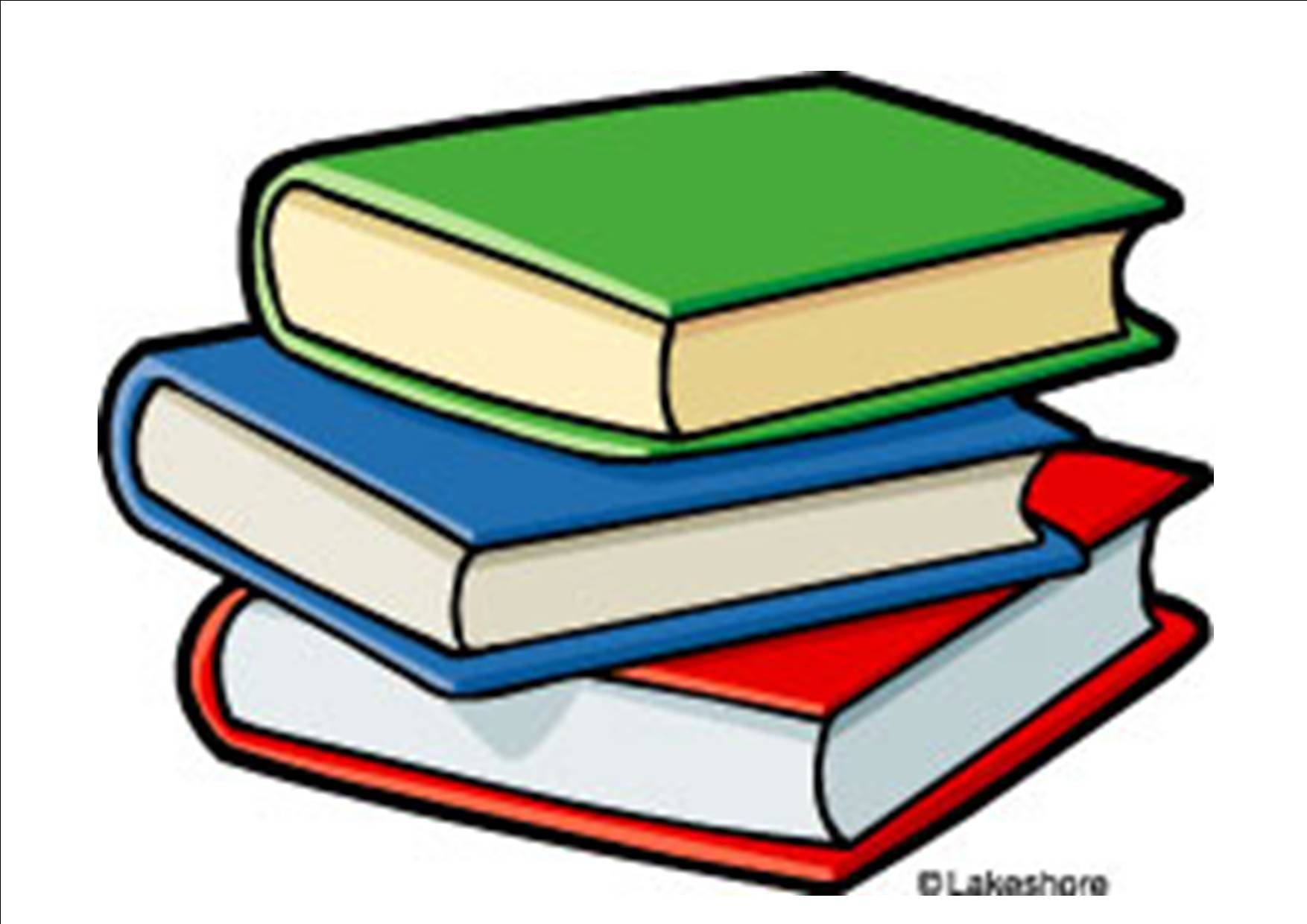 books clipart - Stacked Books Clipart
