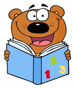 Books book education clipart image clip art a happy bear clipartcow
