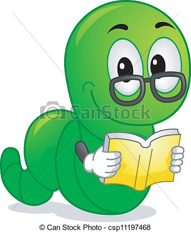 ... Bookworm Mascot - Mascot Illustration Featuring a Worm.