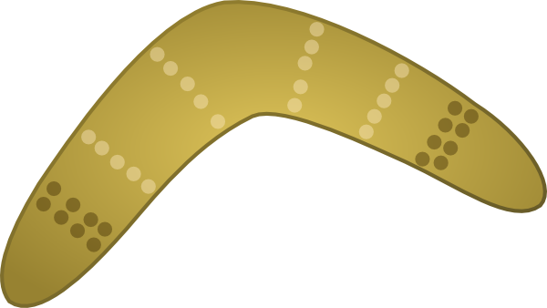 boomerang clipart