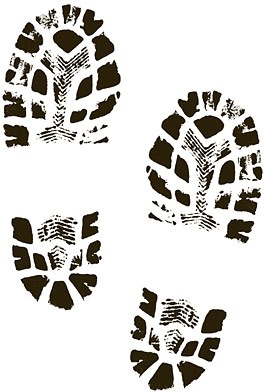 boots shoes shoe print clip art