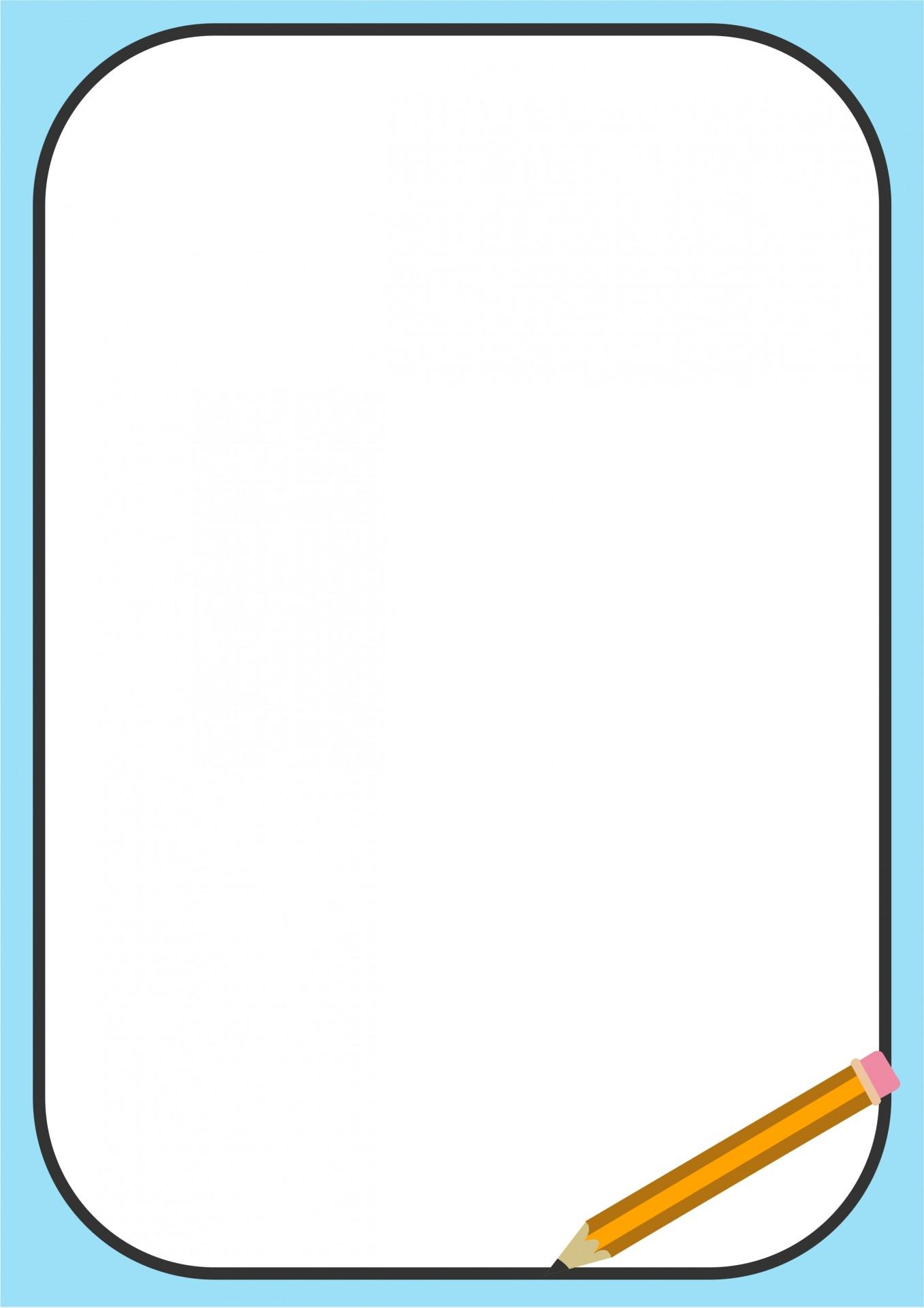 Pencil Border Clipart