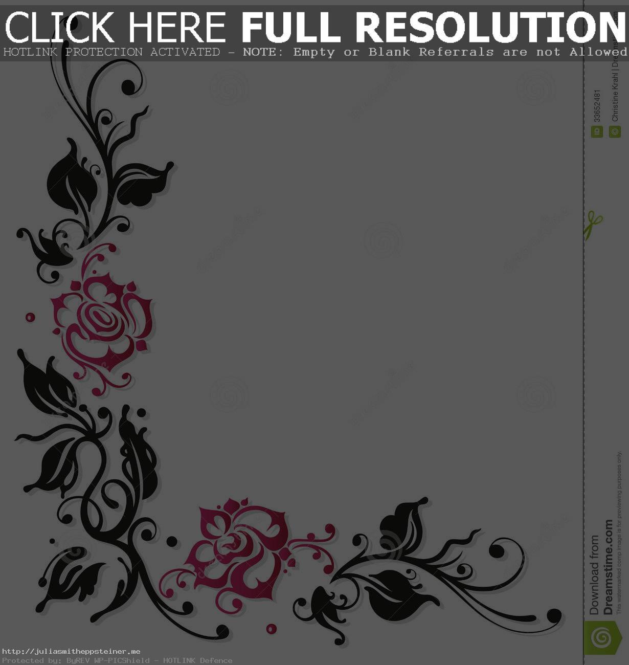 Simple Corner Borders Pink Black Google Search New Tattoo Bright Border