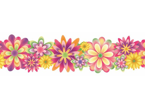 Border Flower Clipart Flowers Borders Vector