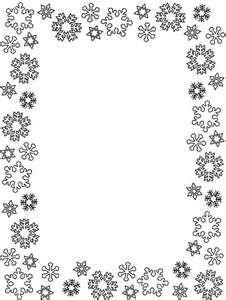 border - Free Snowflake Border Clipart